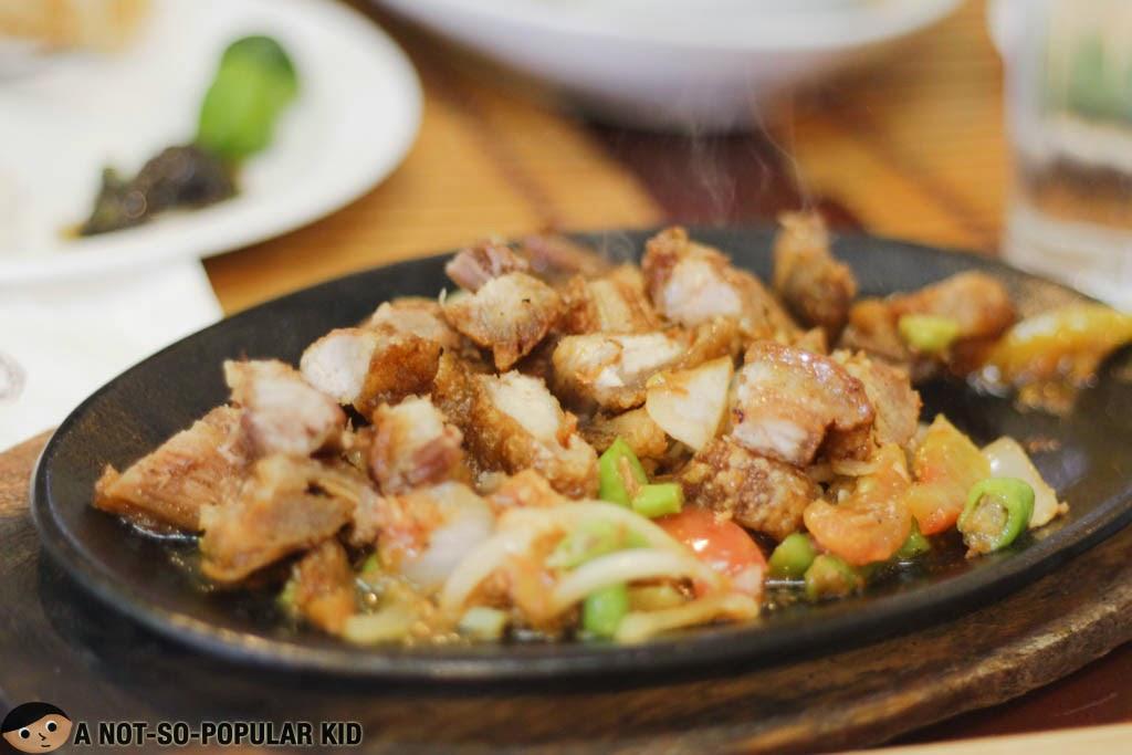 Bagnet Sisig - a Filipino favorite in Ilocos, Philippines