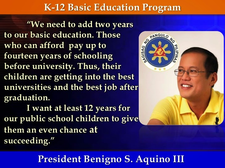 k to 12 program advantages and disadvantages