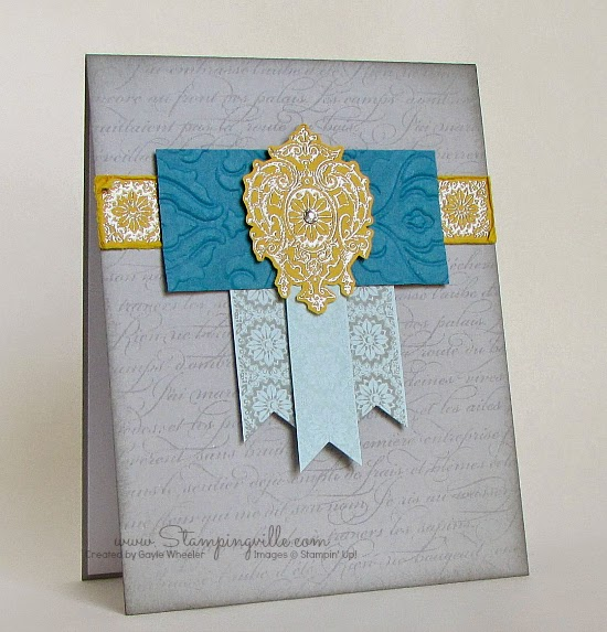 Elegant all occasion card or anniversary card with Lovely Romance stamp set by Stampin' Up!