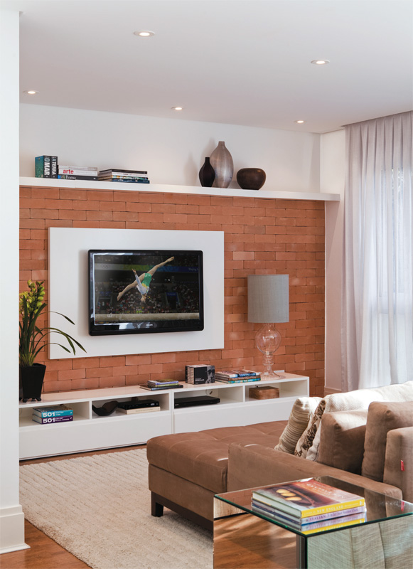 Sala De Tv Decorada Com Rack