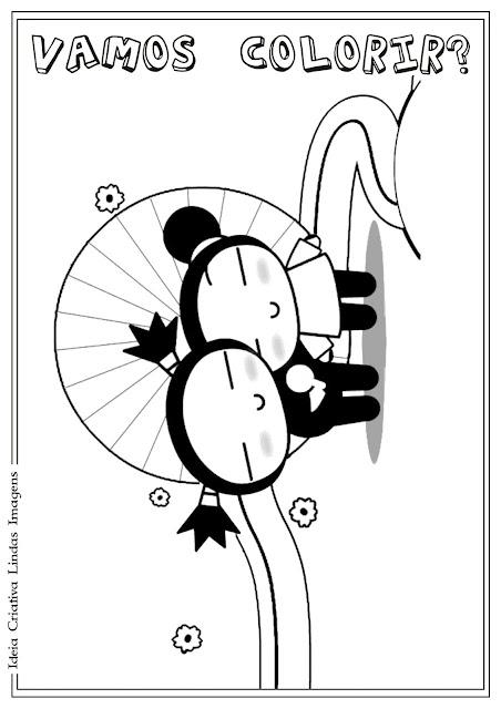 Desenho da Pucca para colorir