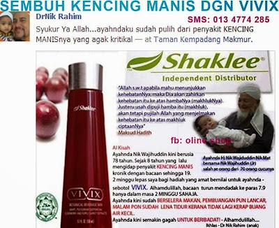 vivix- testimoni pesakit diabetes (kencing manis)