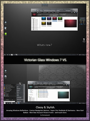 Victorian Glass Windows 7 Theme