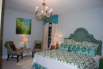decoración verde turquesa dormitorio