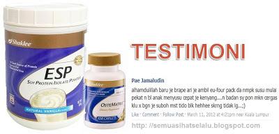 Tambah susu dengan Ostematrix dan ESP