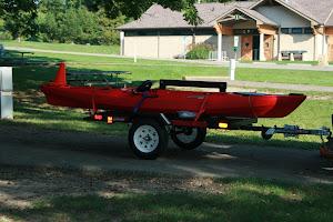 Flat trailer for kayak