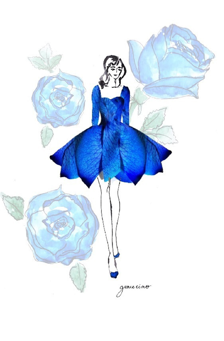 04-Blue-Rose-Ballet-Dress-Nature-and-Grace-Ciao-Design-and-Draw-Dresses-with-Petals-www-designstack-co