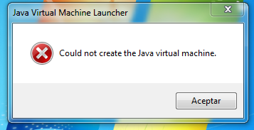 eclipse could not create the java machine