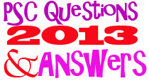 PSC Questions and Answers 2013