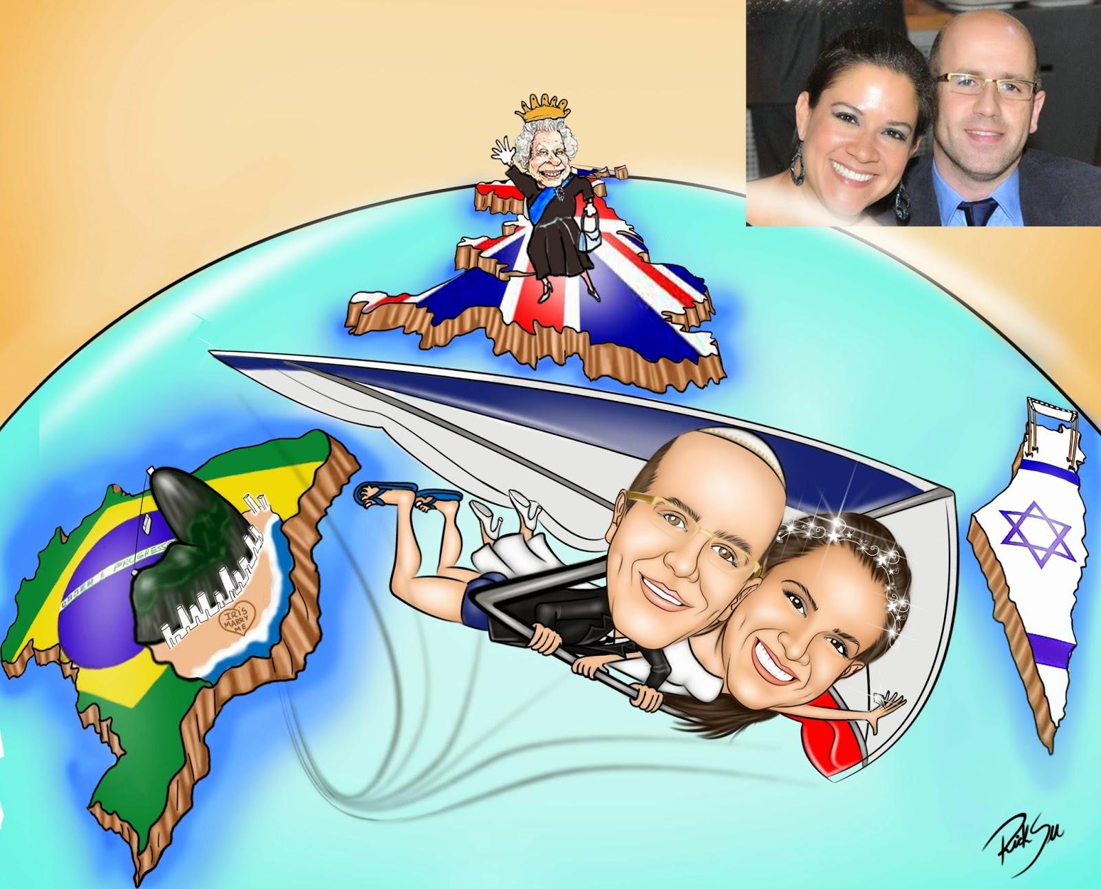 #casal de asa delta  , #inglaterra . #noivos