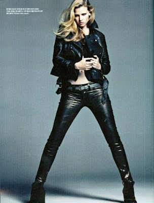 Lara Stone wearing the latest collection of Calvin Klein in Vongue Korea Auguts 2012