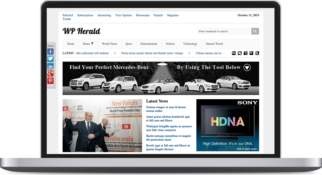 WP Herald – Responsive News Wordpress Theme