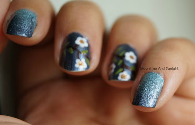 Metallic Gradeint nails