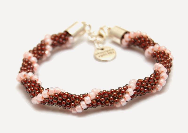 bransoletka koralikowa szydełkowa bead crochet bracelet 15