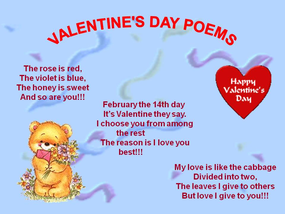 Cute valentine poem