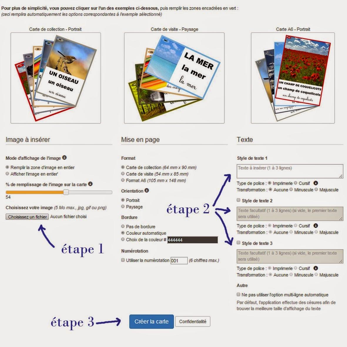 Générateur de cartes de nomenclature