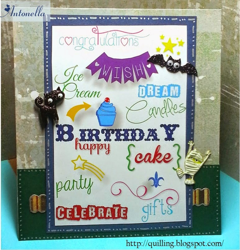 """Perfect """"Happy Birthday"""" printable that you can use for men, women, and children from Antonella at www.quilling.blogspot.com"""