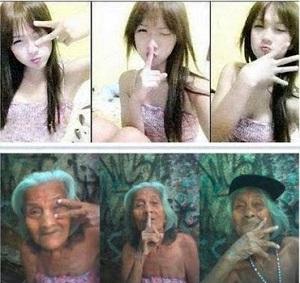 Gambar gambar lucu nenek vs abg