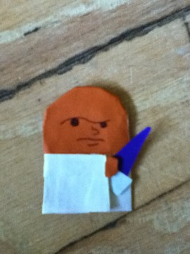 how to make origami r2d2 finger puppet
