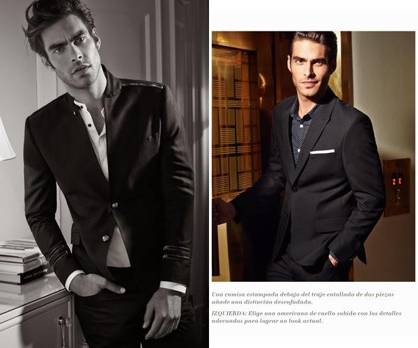 H&M hombre traje ajustado camisa estampada