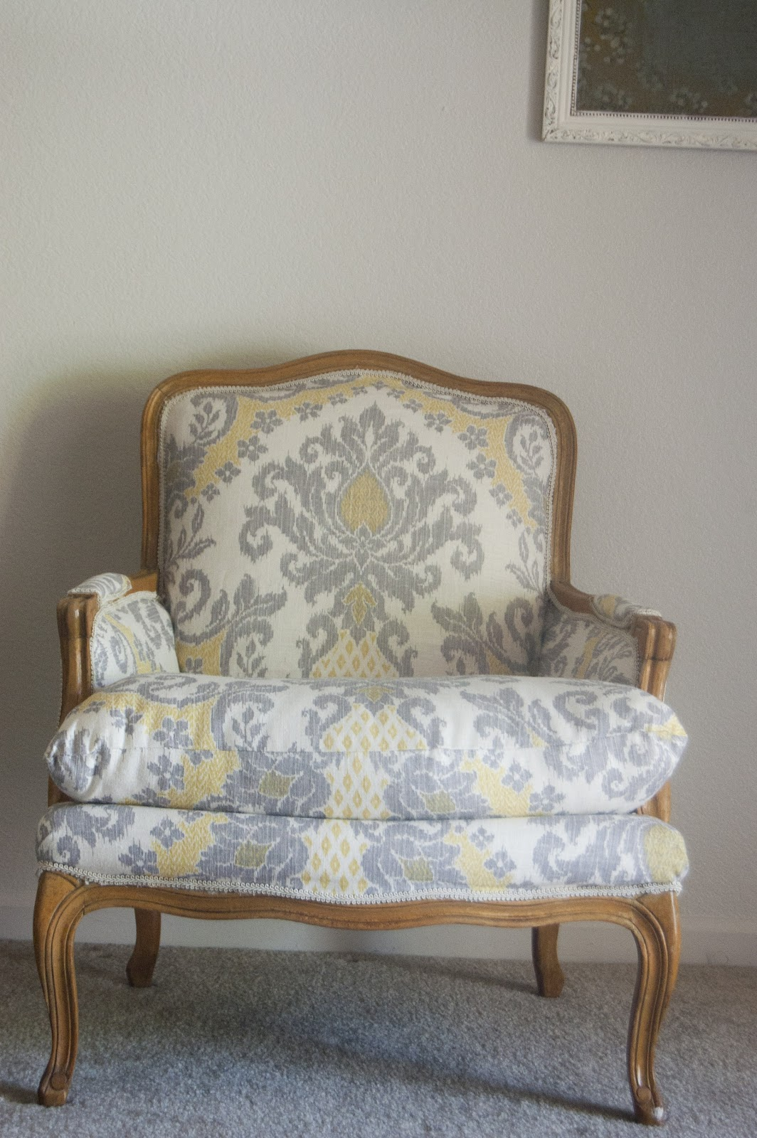 551 east Chair Week Day 1 Ikat French Arm Chair