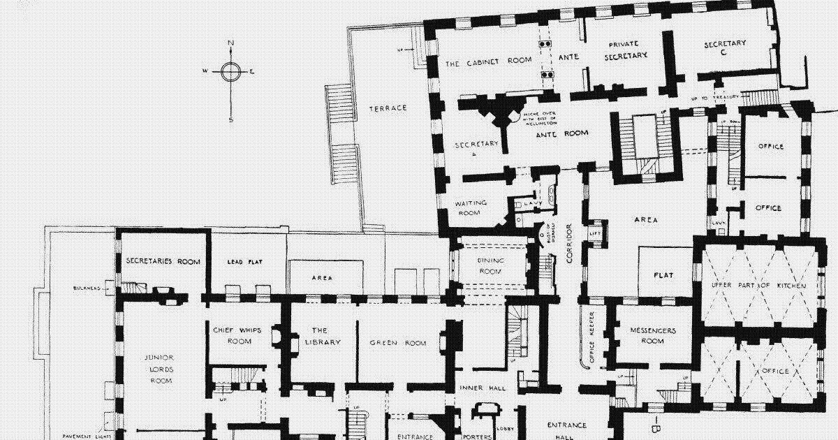 houses of state  downing street floor plans london