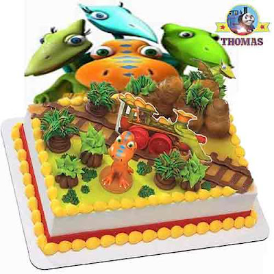 Fun learning facts about how to create a PBS kids theme party Dinosaur train express cake topper