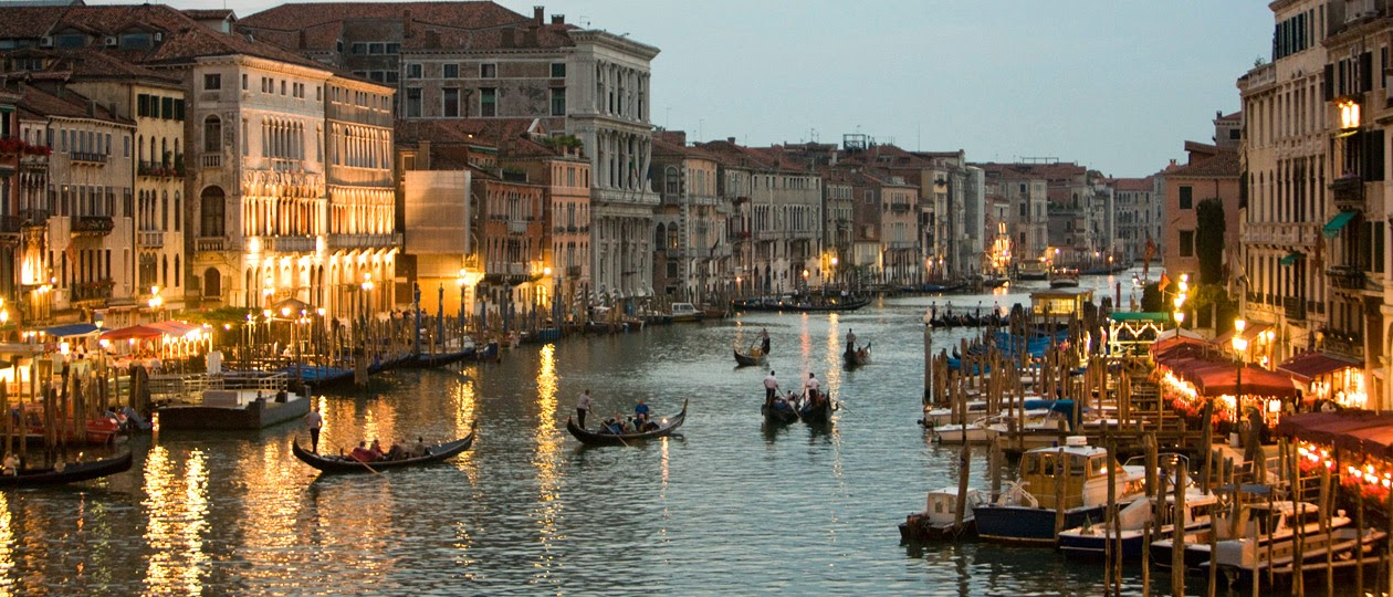 Gondolas Canal Night