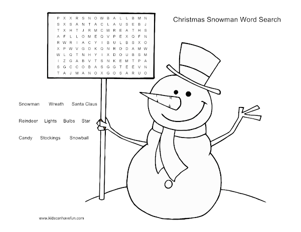 Free Printable Christmas Word Searches And Puzzles