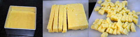prepared polenta squares