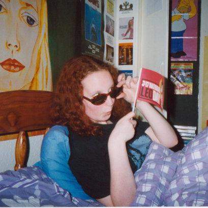 Me in the 90s celebrating National Leo Day
