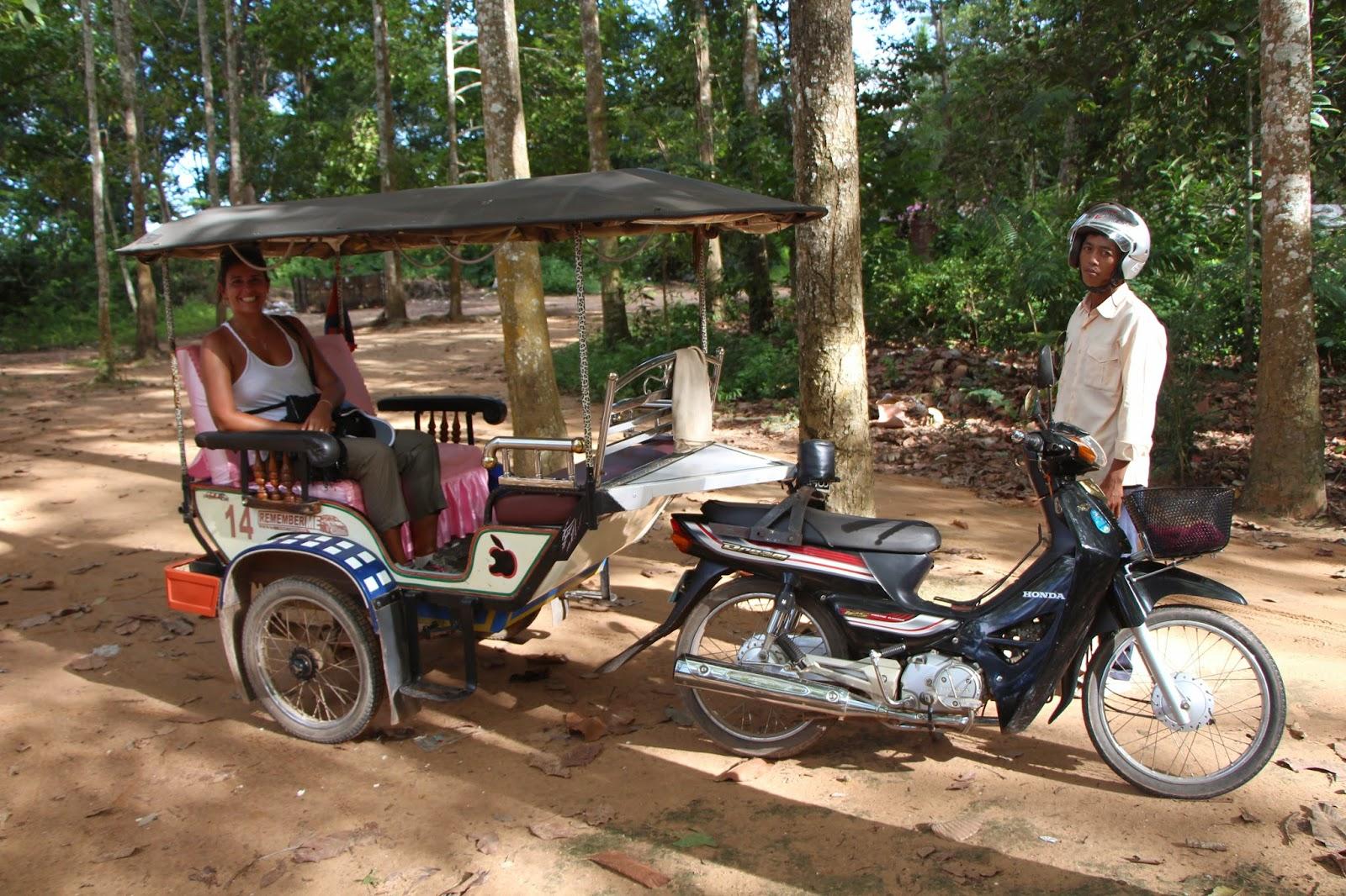 Tuk-tuk em Angkor Cambodia