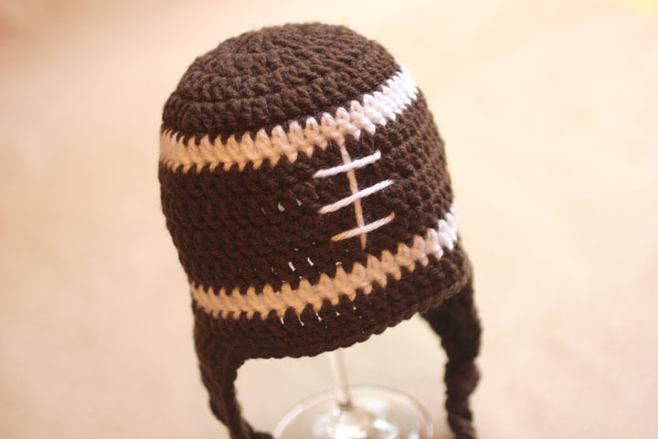 Crochet Football Earflap Hat Pattern Repeat Crafter Me