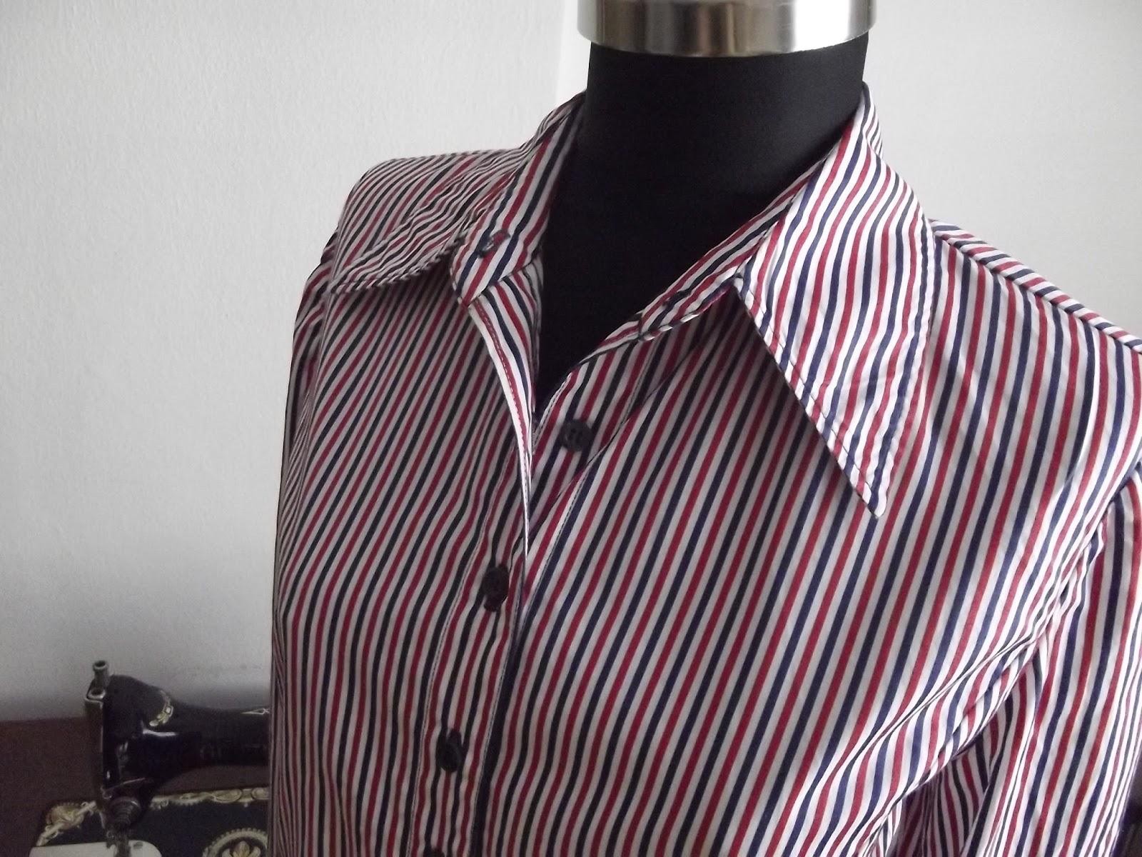 çizgili bayan gömleği