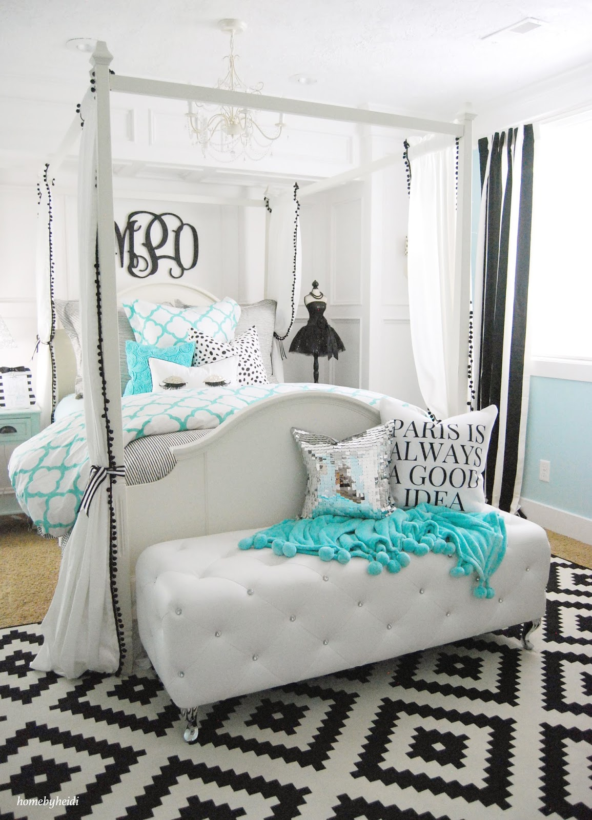 Superb Tiffany Inspired Bedroom