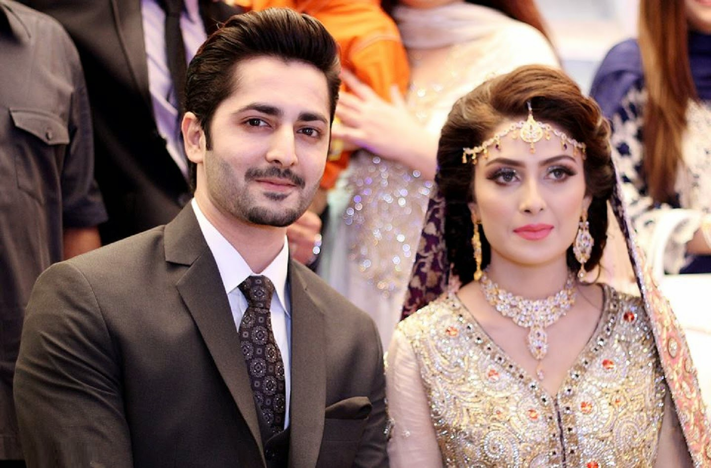 Ayeza Khan and Danish Taimoor Wedding Pictures Wallpapers Free Download