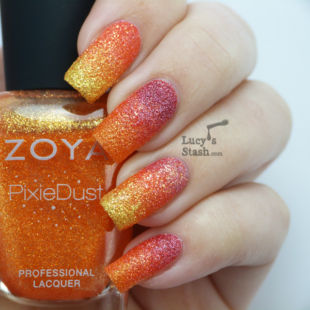 Lucy's Stash - Gradient with Zoya PixieDust Summer polishes