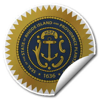 Sticker of Rhode Island Seal
