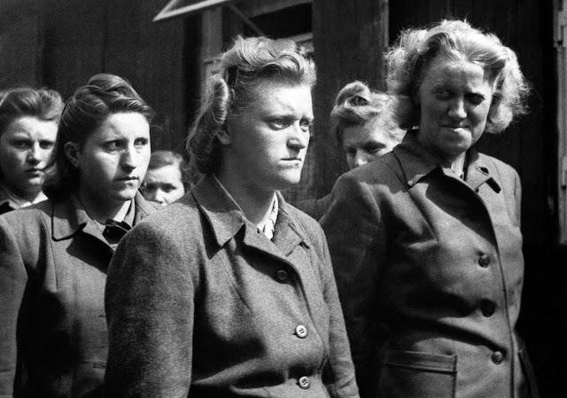 Beasts may be be female too. SS women guards at the Bergen-Belsen Concentration camp after the Allies over-ran it