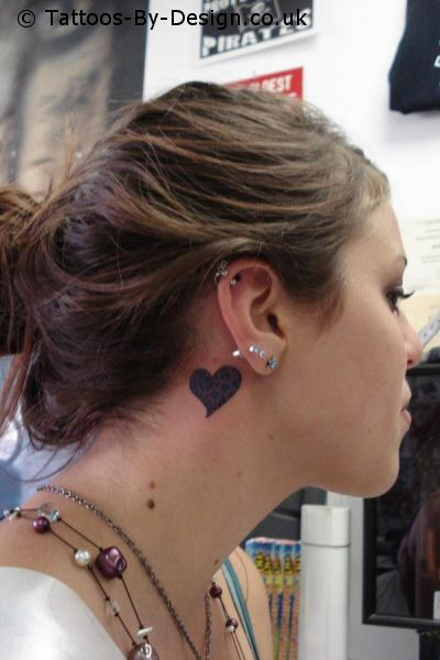 Hearts Ear Tattoo