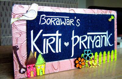 Arts Crafts Handmade Name plate