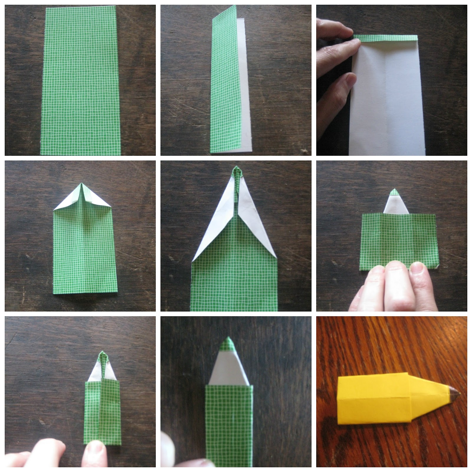How To Make A Paper Bookmark : Chickenpete paper pencil bookmarks