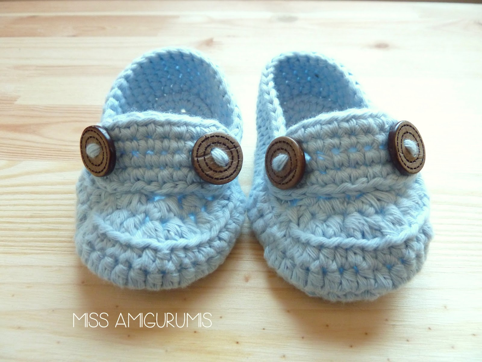 Crochet Tutorial Zapatitos : Miss Amigurumis: Zapatitos de crochet para bebE