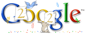 New Year 2002 Google Doodle