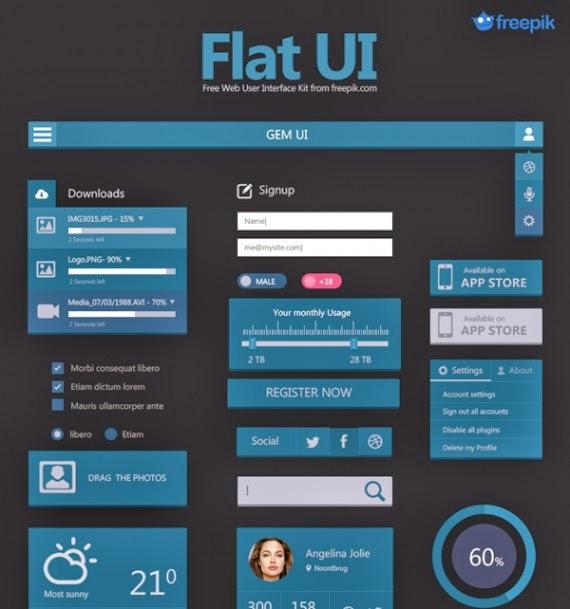 Free Deal: Flat User Interface Set