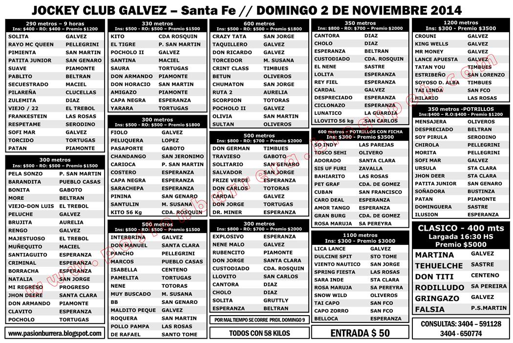 GALVEZ - PROGRAMA 2 DE NOV.