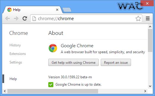 Windows Admin Center: Google Chrome 30.0.1599.22 Beta Now ...