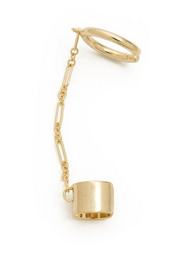 Dannijo Joel gold chain ear cuff shopbop