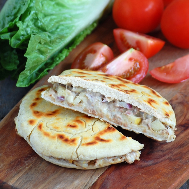 trying for sighs: make bread - tuna melt piadina