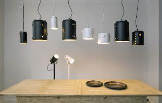 Lamparas Fabricadas con Calderos de Cafe Reciclados
